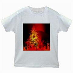Red Silhouette Star Kids White T-Shirts
