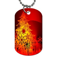 Red Silhouette Star Dog Tag (One Side)