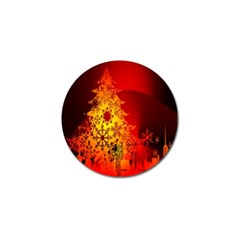 Red Silhouette Star Golf Ball Marker (10 Pack)