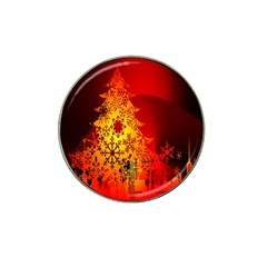 Red Silhouette Star Hat Clip Ball Marker (4 pack)