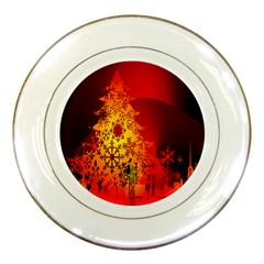 Red Silhouette Star Porcelain Plates