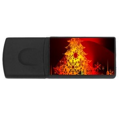 Red Silhouette Star USB Flash Drive Rectangular (4 GB)