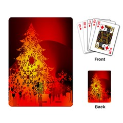 Red Silhouette Star Playing Card