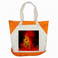 Red Silhouette Star Accent Tote Bag