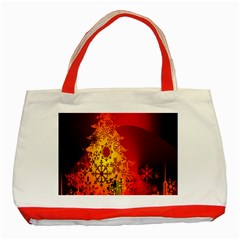 Red Silhouette Star Classic Tote Bag (Red)