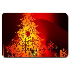 Red Silhouette Star Large Doormat