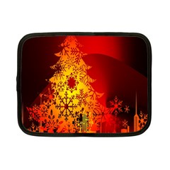 Red Silhouette Star Netbook Case (Small)