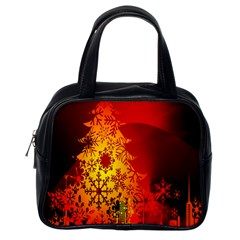 Red Silhouette Star Classic Handbags (one Side)