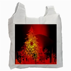 Red Silhouette Star Recycle Bag (One Side)