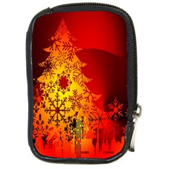 Red Silhouette Star Compact Camera Cases