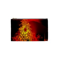 Red Silhouette Star Cosmetic Bag (small)