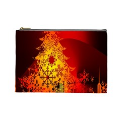 Red Silhouette Star Cosmetic Bag (Large)