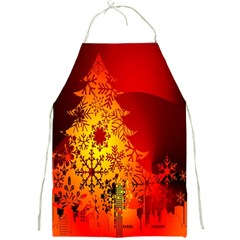 Red Silhouette Star Full Print Aprons