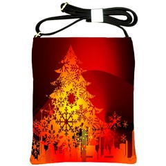 Red Silhouette Star Shoulder Sling Bags