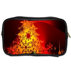 Red Silhouette Star Toiletries Bags