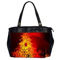 Red Silhouette Star Office Handbags (2 Sides)