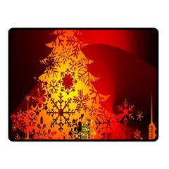 Red Silhouette Star Fleece Blanket (small)