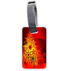 Red Silhouette Star Luggage Tags (One Side)