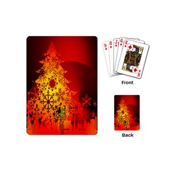 Red Silhouette Star Playing Cards (Mini)