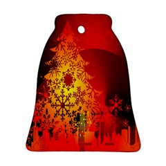 Red Silhouette Star Ornament (bell)