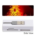 Red Silhouette Star Memory Card Reader (Stick)  Front