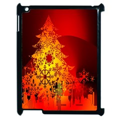 Red Silhouette Star Apple iPad 2 Case (Black)