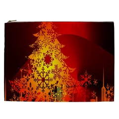 Red Silhouette Star Cosmetic Bag (xxl)