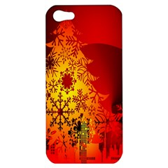 Red Silhouette Star Apple iPhone 5 Hardshell Case