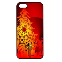 Red Silhouette Star Apple Iphone 5 Seamless Case (black)