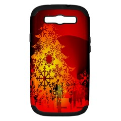 Red Silhouette Star Samsung Galaxy S III Hardshell Case (PC+Silicone)