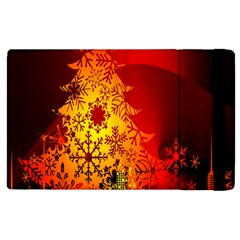 Red Silhouette Star Apple iPad 3/4 Flip Case