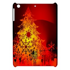 Red Silhouette Star Apple Ipad Mini Hardshell Case
