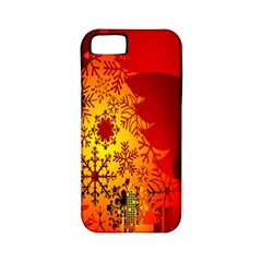 Red Silhouette Star Apple Iphone 5 Classic Hardshell Case (pc+silicone)