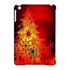 Red Silhouette Star Apple iPad Mini Hardshell Case (Compatible with Smart Cover)