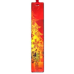 Red Silhouette Star Large Book Marks