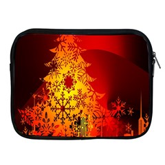 Red Silhouette Star Apple iPad 2/3/4 Zipper Cases