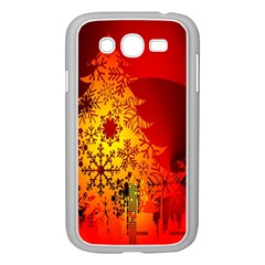 Red Silhouette Star Samsung Galaxy Grand Duos I9082 Case (white)