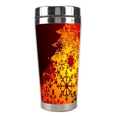 Red Silhouette Star Stainless Steel Travel Tumblers