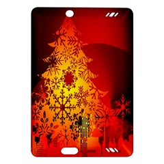 Red Silhouette Star Amazon Kindle Fire Hd (2013) Hardshell Case