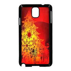 Red Silhouette Star Samsung Galaxy Note 3 Neo Hardshell Case (black)