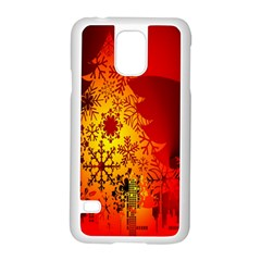 Red Silhouette Star Samsung Galaxy S5 Case (white)