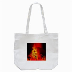 Red Silhouette Star Tote Bag (white)