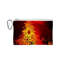 Red Silhouette Star Canvas Cosmetic Bag (S)