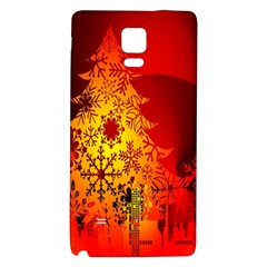 Red Silhouette Star Galaxy Note 4 Back Case