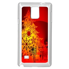 Red Silhouette Star Samsung Galaxy Note 4 Case (white)