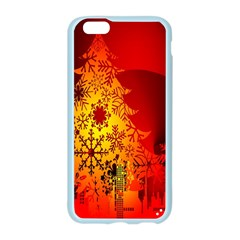 Red Silhouette Star Apple Seamless iPhone 6/6S Case (Color)