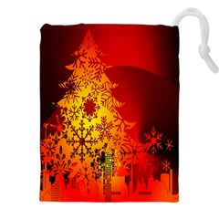 Red Silhouette Star Drawstring Pouches (XXL)