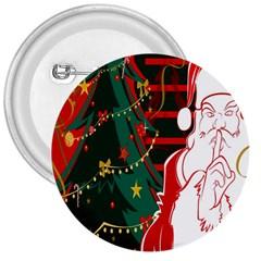 Santa Clause Xmas 3  Buttons