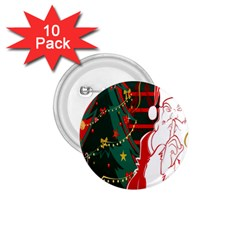 Santa Clause Xmas 1.75  Buttons (10 pack)