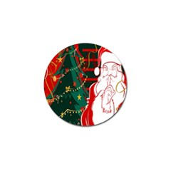Santa Clause Xmas Golf Ball Marker (4 pack)